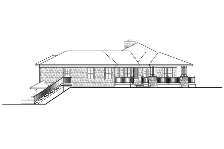 Craftsman House Plan - Illahe 48578 - Right Exterior