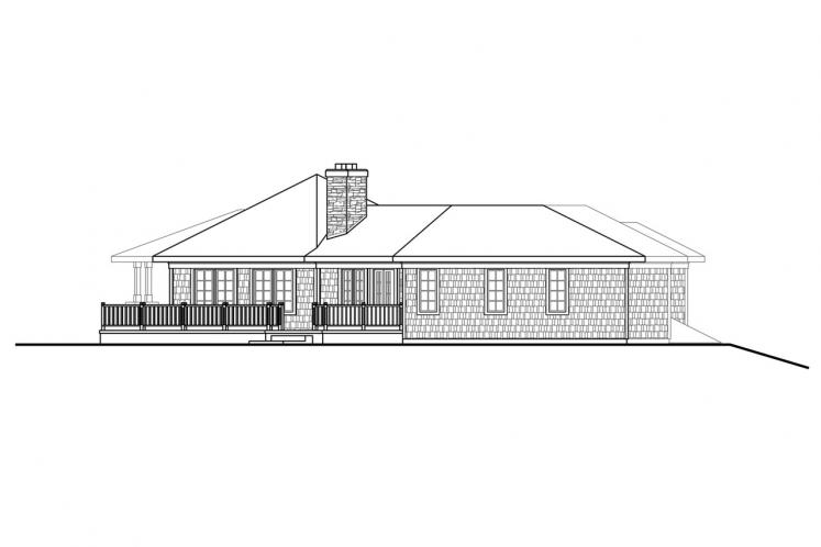 Ranch House Plan - Illahe 48578 - Left Exterior