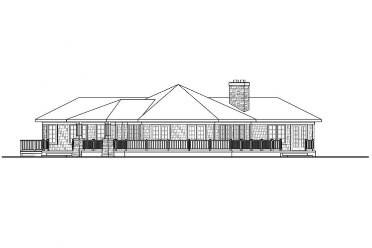 Ranch House Plan - Illahe 48578 - Rear Exterior