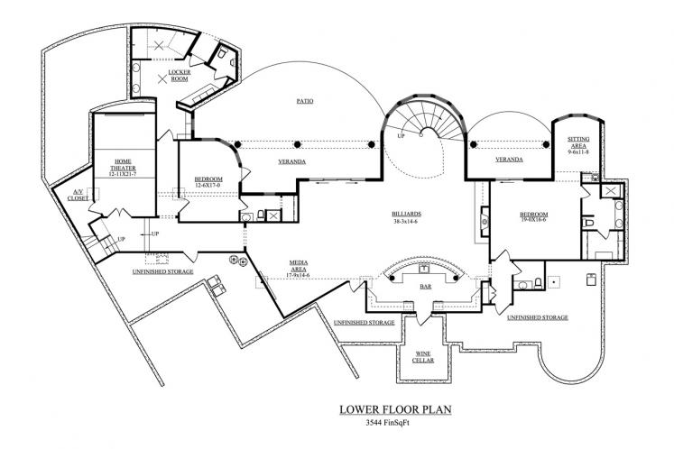 Mediterranean House Plan - Venezia 48616 - Basement Floor Plan