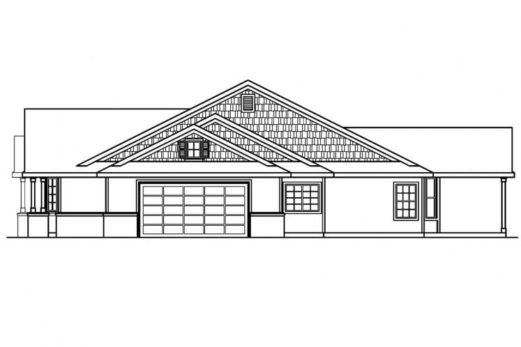 Country House Plan - Ashley 48625 - Right Exterior