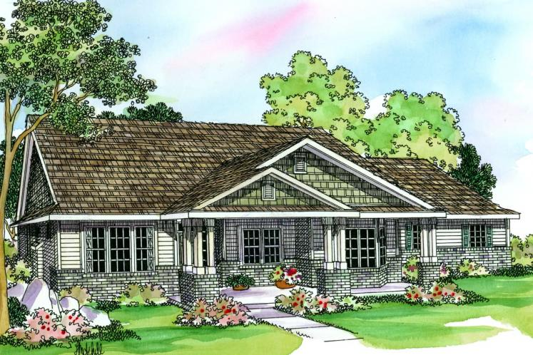 Country House Plan - Ashley 48625 - Front Exterior