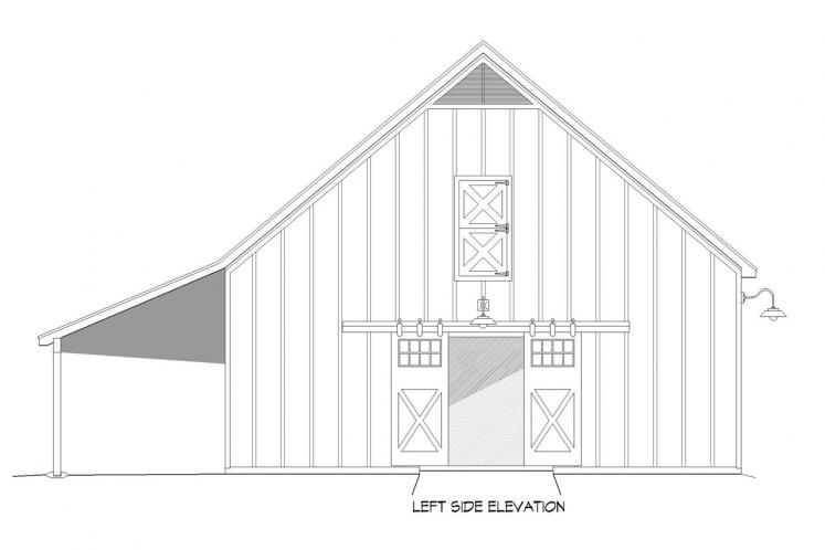 Traditional  - Hatters Barn 48651 - Left Exterior