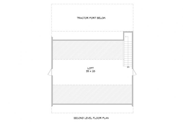 Country  - Hatters Barn 48651 - 2nd Floor Plan
