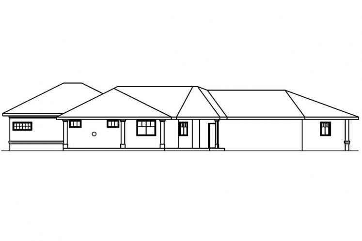 Contemporary House Plan - Chatsworth 48653 - Rear Exterior