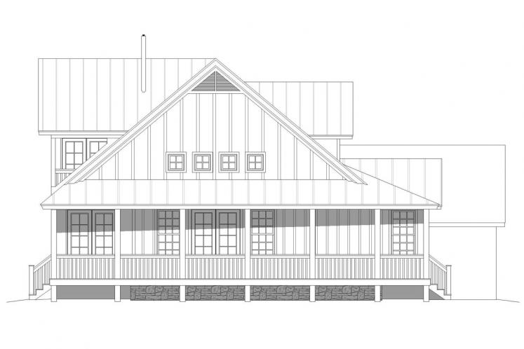 Country House Plan -  48721 - Left Exterior