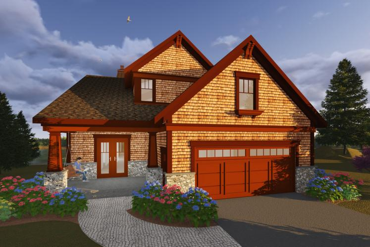 Craftsman House Plan -  48739 - Front Exterior
