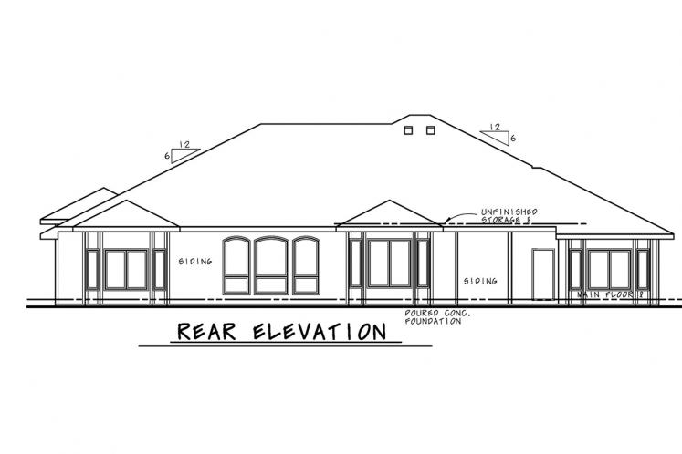 Southwest House Plan - McAllister Knoll 48788 - Rear Exterior