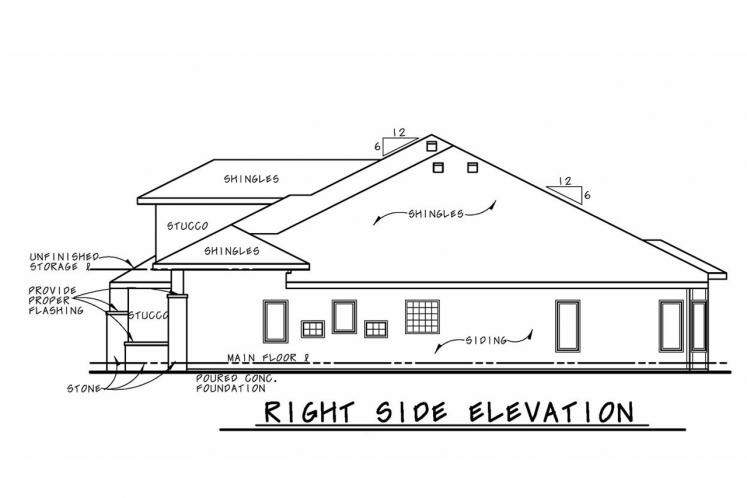 European House Plan - McAllister Knoll 48788 - Right Exterior