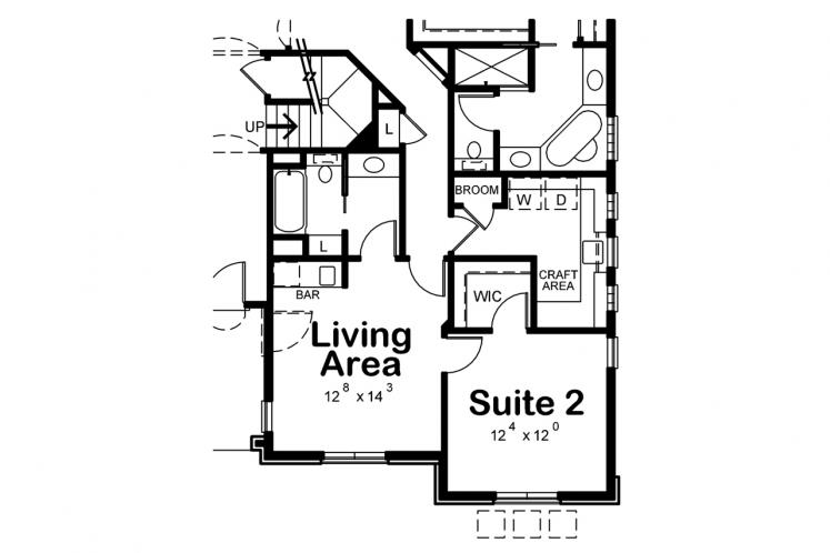 Spanish House Plan - McAllister Knoll 48788 - Optional Floor Plan