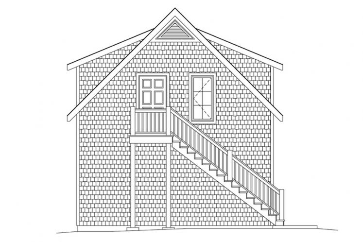 Colonial Garage Plan -  48919 - Left Exterior