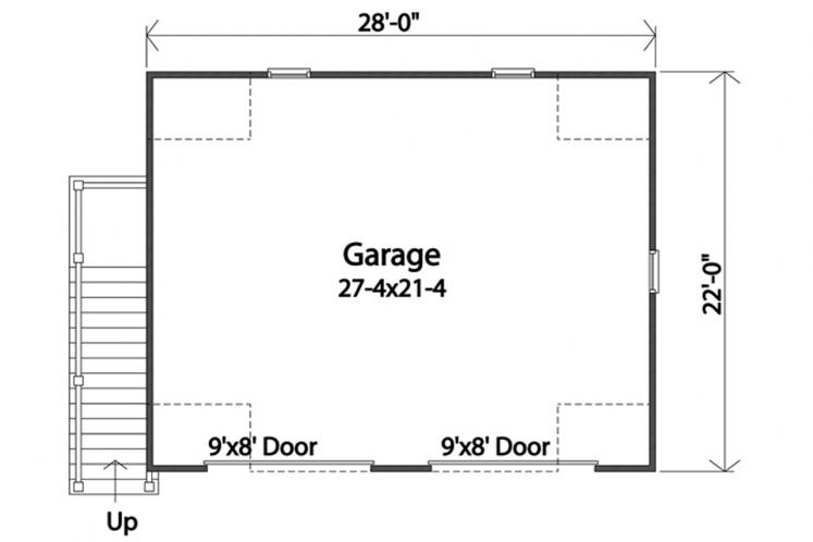 Colonial Garage Plan -  48919 - 1st Floor Plan