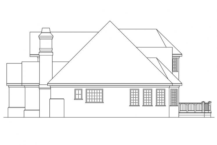 European House Plan - Montpellier 49079 - Right Exterior