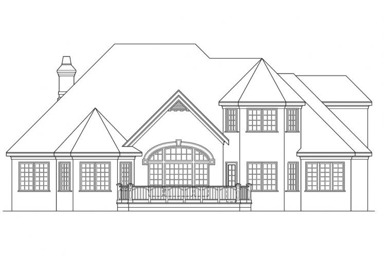 Classic House Plan - Montpellier 49079 - Rear Exterior