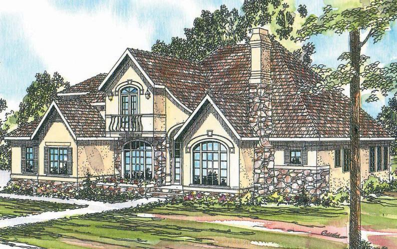 European House Plan - Montpellier 49079 - Front Exterior