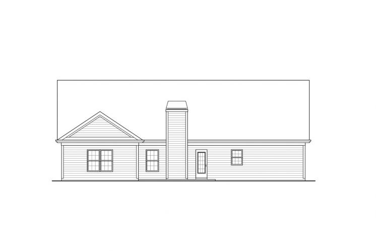 Bungalow House Plan -  49175 - Rear Exterior