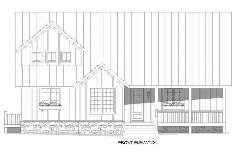 Country House Plan - Red Lodge Creek 49247 - Front Exterior