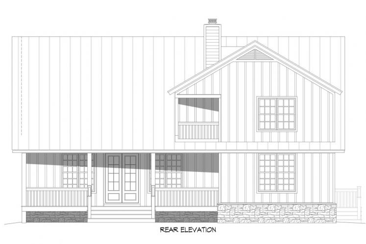 Cottage House Plan - Red Lodge Creek 49247 - Rear Exterior