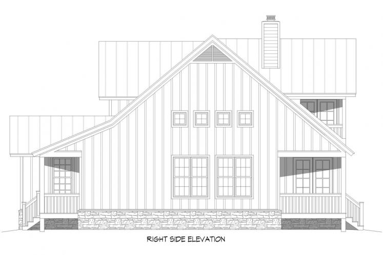 Country House Plan - Red Lodge Creek 49247 - Right Exterior