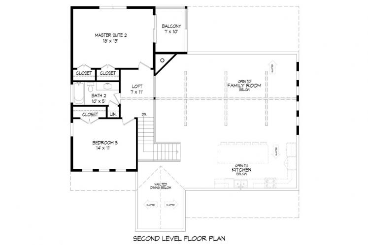 Country House Plan - Red Lodge Creek 49247 - 2nd Floor Plan