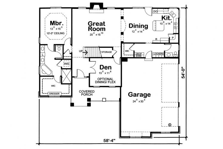 Ranch House Plan - Peony 49259 - 1st Floor Plan
