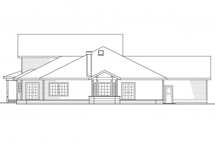 Farmhouse House Plan - Morgan 49310 - Rear Exterior