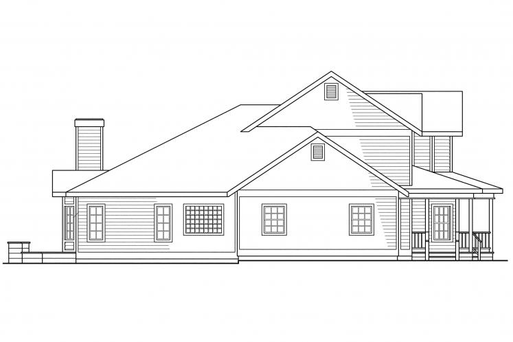 Victorian House Plan - Morgan 49310 - Left Exterior