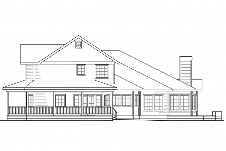 Country House Plan - Morgan 49310 - Right Exterior
