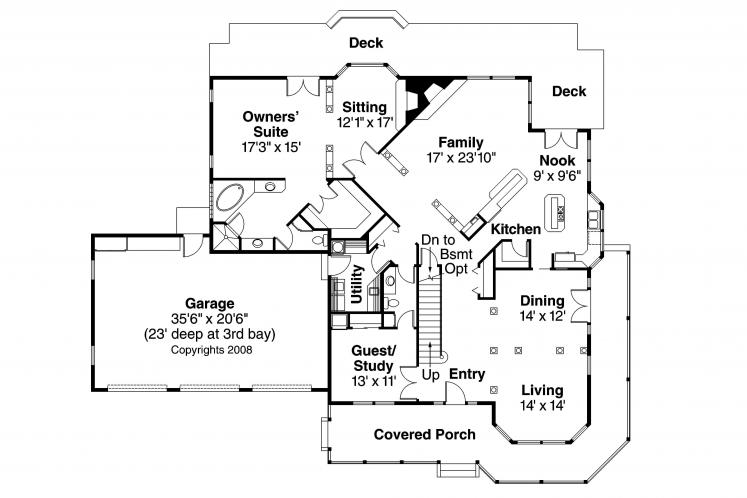 Farmhouse House Plan - Morgan 49310 - 1st Floor Plan