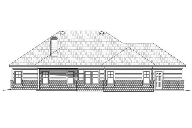 Traditional House Plan - Cascades 49331 - Rear Exterior