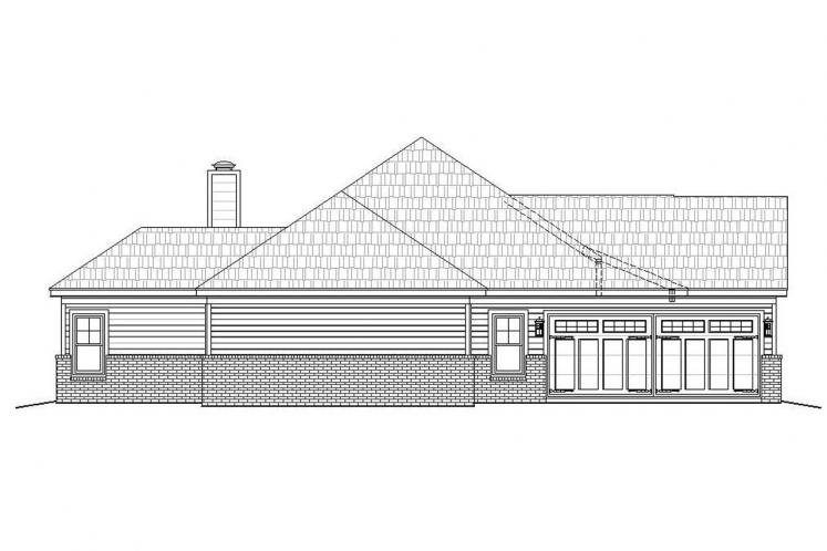 Ranch House Plan - Cascades 49331 - Left Exterior