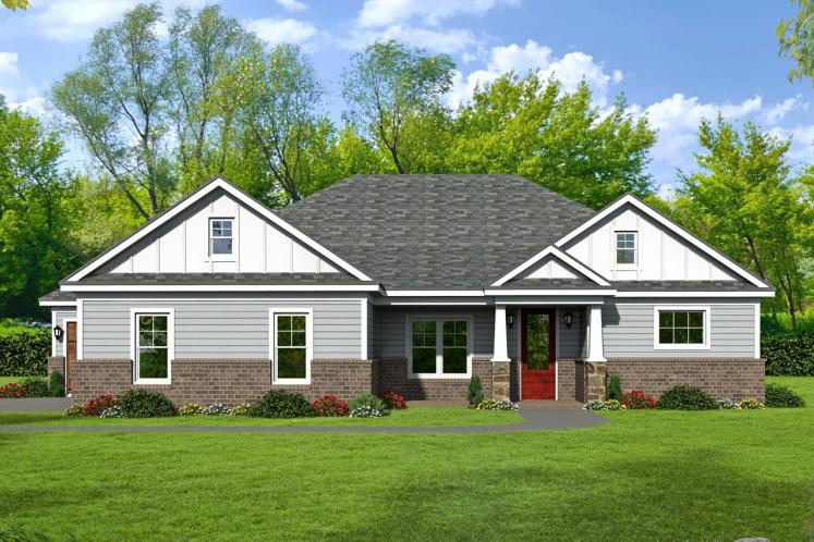 Ranch House Plan - Cascades 49331 - Front Exterior