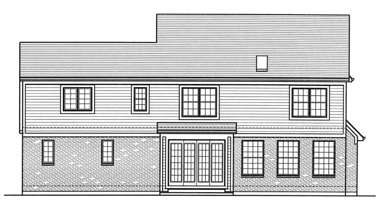 Country House Plan - The Montclaire 49373 - Rear Exterior