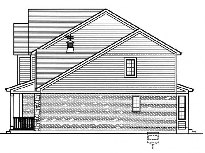 Traditional House Plan - The Montclaire 49373 - Right Exterior