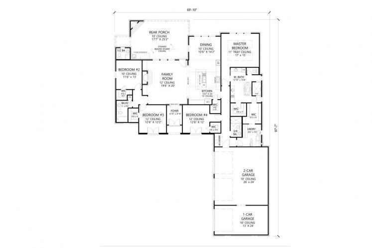 Classic House Plan - Monticello 49412 - 1st Floor Plan