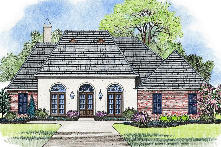 European House Plan - Monticello 49412 - Front Exterior