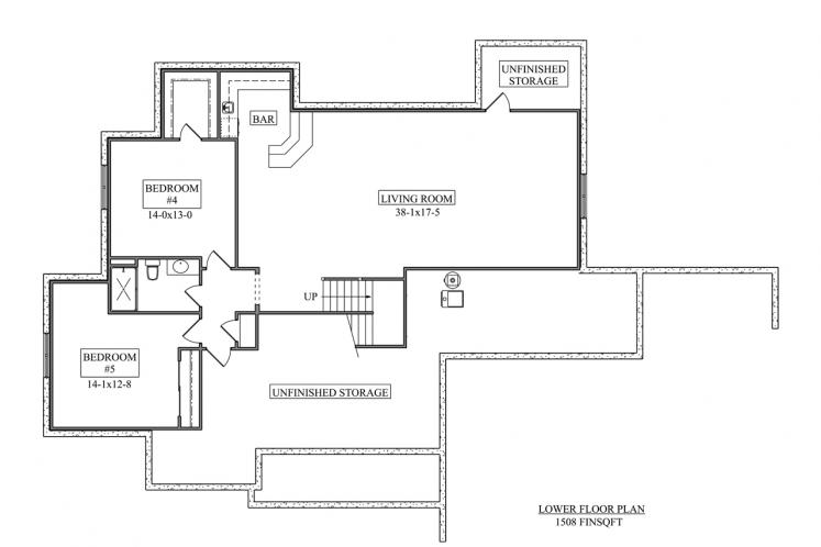 Ranch House Plan - Lincoln 49487 - Basement Floor Plan