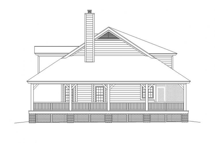 Country House Plan -  49538 - Right Exterior
