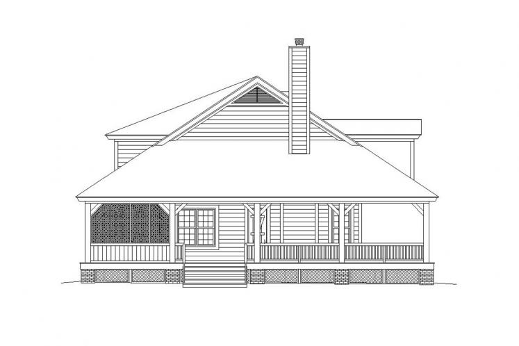 Lodge Style House Plan -  49538 - Left Exterior