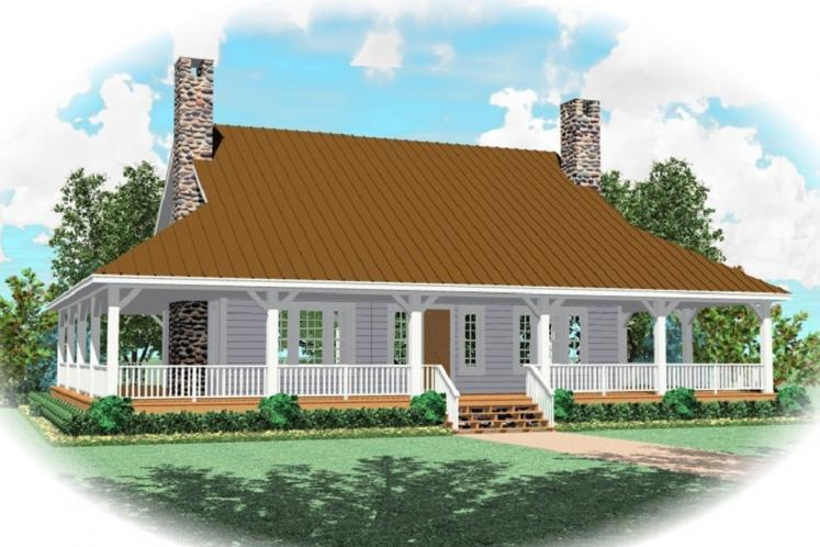 Country House Plan -  49538 - Front Exterior