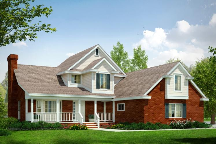 Country House Plan - Birmingham 49627 - Front Exterior