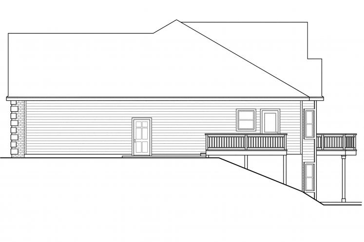 Ranch House Plan - Hampshire 49661 - Right Exterior