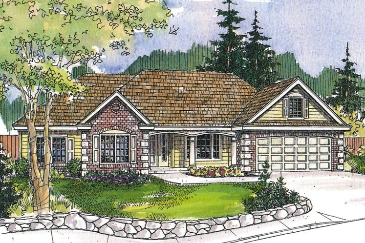 Ranch House Plan - Hampshire 49661 - Front Exterior