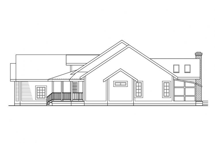 Country House Plan - Lassen 49766 - Right Exterior