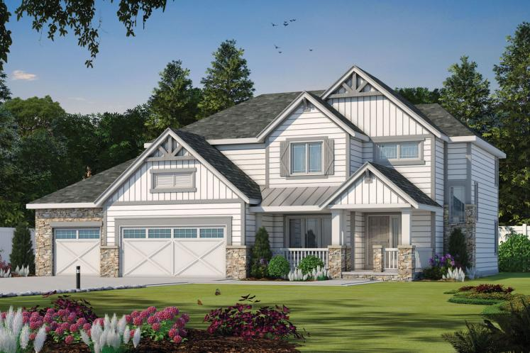 Country House Plan - Sunflower 49773 - Front Exterior