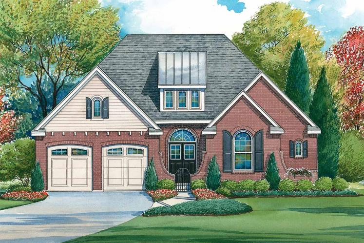 Traditional House Plan - Georgetown Showcase 49775 - Front Exterior