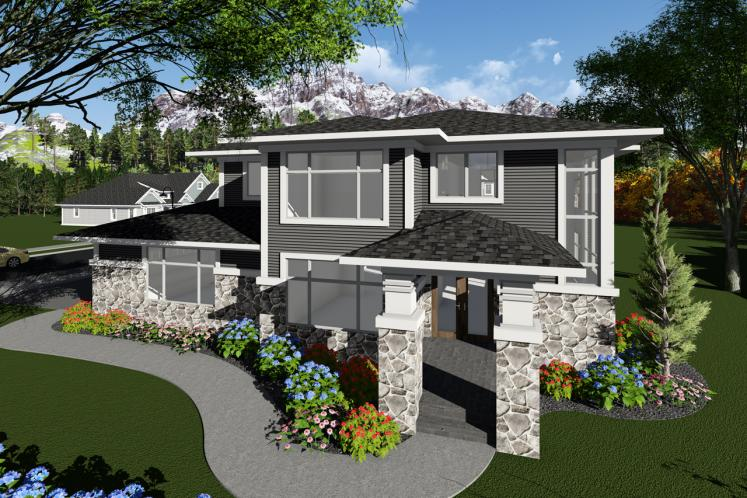 Modern House Plan -  49801 - Front Exterior