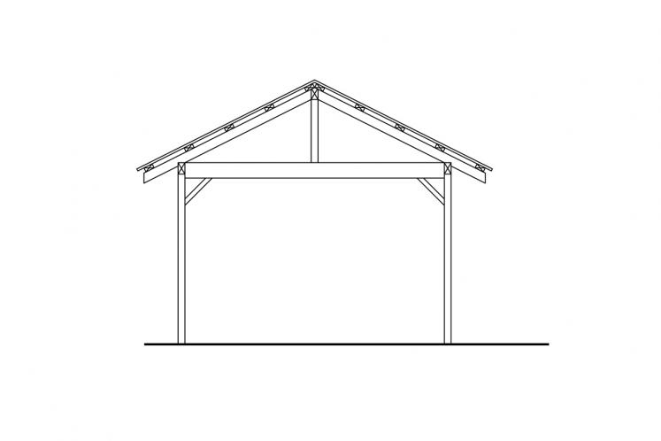 Traditional Garage Plan -  49978 - Rear Exterior