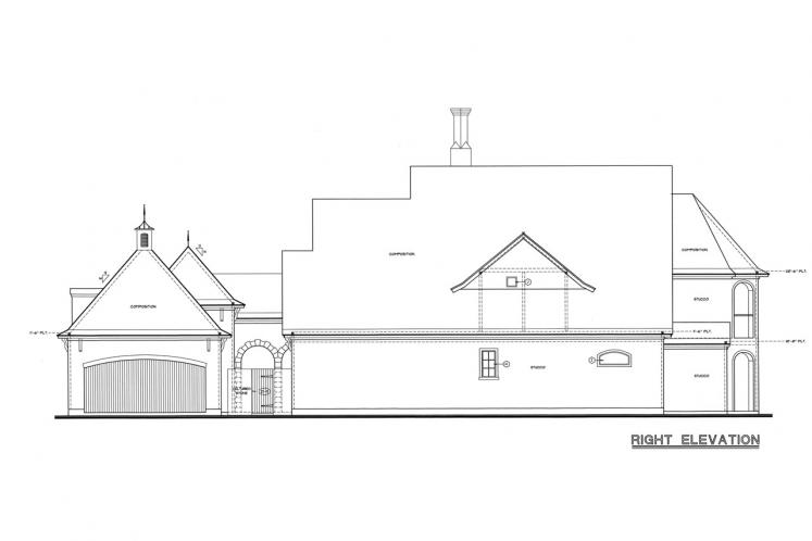 Country House Plan - Ashwood Manor 50085 - Right Exterior