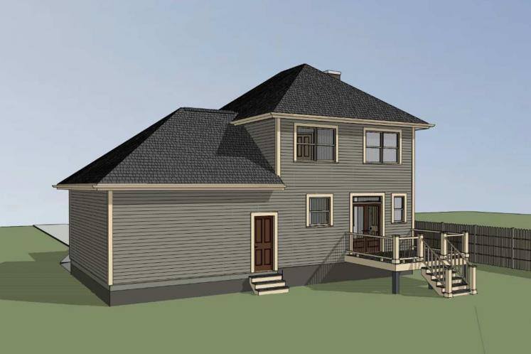 Traditional House Plan -  50103 - Right Exterior